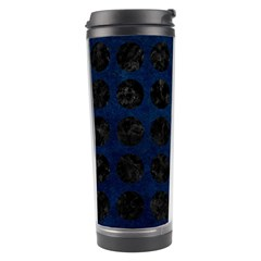 Circles1 Black Marble & Blue Grunge (r) Travel Tumbler by trendistuff