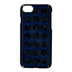 Circles1 Black Marble & Blue Grunge (r) Apple Iphone 7 Seamless Case (black) by trendistuff