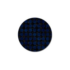 Circles1 Black Marble & Blue Grunge Golf Ball Marker (10 Pack) by trendistuff
