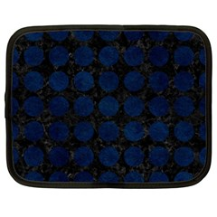 Circles1 Black Marble & Blue Grunge Netbook Case (large) by trendistuff