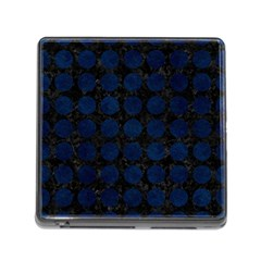 Circles1 Black Marble & Blue Grunge Memory Card Reader (square) by trendistuff