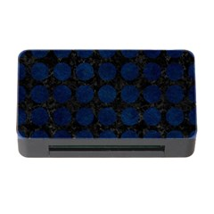Circles1 Black Marble & Blue Grunge Memory Card Reader With Cf by trendistuff