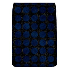 Circles1 Black Marble & Blue Grunge Removable Flap Cover (l) by trendistuff