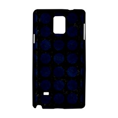 Circles1 Black Marble & Blue Grunge Samsung Galaxy Note 4 Hardshell Case by trendistuff