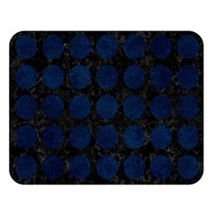 Circles1 Black Marble & Blue Grunge Double Sided Flano Blanket (large) by trendistuff