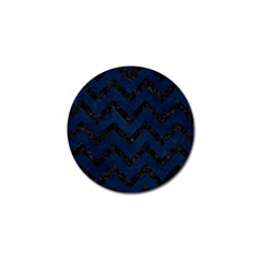 Chevron9 Black Marble & Blue Grunge (r) Golf Ball Marker (10 Pack) by trendistuff