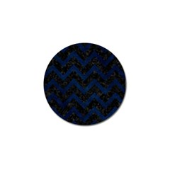 Chevron9 Black Marble & Blue Grunge Golf Ball Marker (4 Pack) by trendistuff