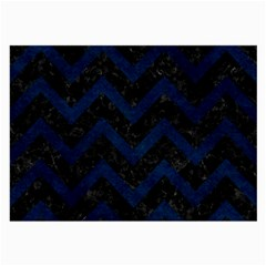 Chevron9 Black Marble & Blue Grunge Large Glasses Cloth (2 Sides) by trendistuff