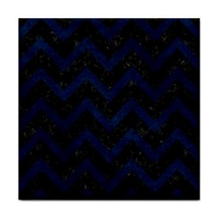 Chevron9 Black Marble & Blue Grunge Face Towel by trendistuff