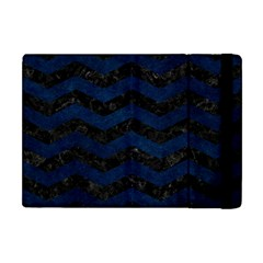 Chevron3 Black Marble & Blue Grunge Apple Ipad Mini Flip Case by trendistuff
