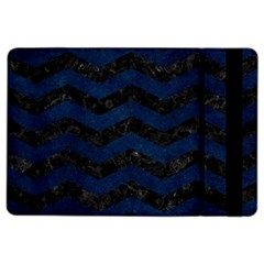Chevron3 Black Marble & Blue Grunge Apple Ipad Air 2 Flip Case by trendistuff