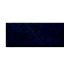 Brick2 Black Marble & Blue Grunge (r) Hand Towel by trendistuff