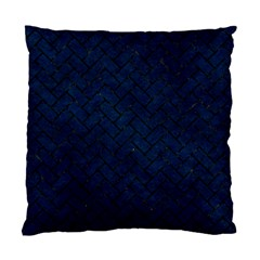 Brick2 Black Marble & Blue Grunge (r) Standard Cushion Case (one Side) by trendistuff