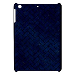 Brick2 Black Marble & Blue Grunge (r) Apple Ipad Mini Hardshell Case by trendistuff