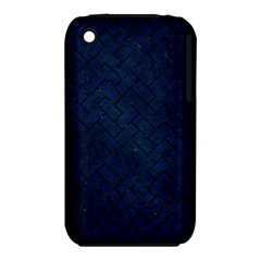Brick2 Black Marble & Blue Grunge (r) Apple Iphone 3g/3gs Hardshell Case (pc+silicone) by trendistuff