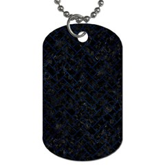 Brick2 Black Marble & Blue Grunge Dog Tag (two Sides) by trendistuff