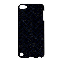 Brick2 Black Marble & Blue Grunge Apple Ipod Touch 5 Hardshell Case by trendistuff