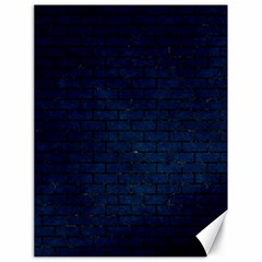 Brick1 Black Marble & Blue Grunge (r) Canvas 18  X 24  by trendistuff