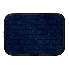 Brick1 Black Marble & Blue Grunge (r) Netbook Case (medium) by trendistuff