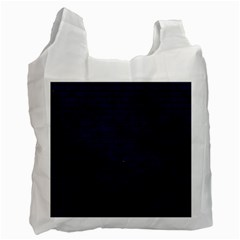 Brick1 Black Marble & Blue Grunge (r) Recycle Bag (two Side) by trendistuff