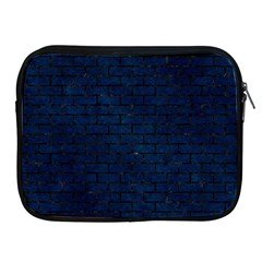 Brick1 Black Marble & Blue Grunge (r) Apple Ipad Zipper Case