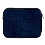 BRICK1 BLACK MARBLE & BLUE GRUNGE (R) Apple iPad Zipper Case Front
