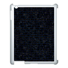 Brick1 Black Marble & Blue Grunge Apple Ipad 3/4 Case (white) by trendistuff