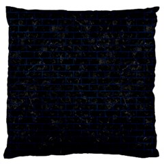 Brick1 Black Marble & Blue Grunge Large Flano Cushion Case (two Sides) by trendistuff