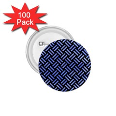 Woven2 Black Marble & Blue Watercolor 1 75  Button (100 Pack)