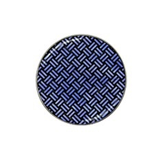Woven2 Black Marble & Blue Watercolor Hat Clip Ball Marker (10 Pack) by trendistuff