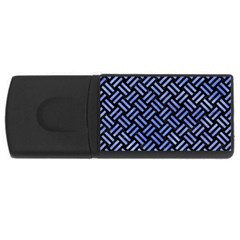 Woven2 Black Marble & Blue Watercolor Usb Flash Drive Rectangular (4 Gb) by trendistuff