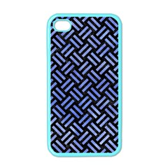 Woven2 Black Marble & Blue Watercolor Apple Iphone 4 Case (color) by trendistuff