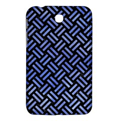 Woven2 Black Marble & Blue Watercolor Samsung Galaxy Tab 3 (7 ) P3200 Hardshell Case  by trendistuff