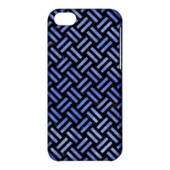 Woven2 Black Marble & Blue Watercolor Apple Iphone 5c Hardshell Case by trendistuff