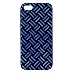 Woven2 Black Marble & Blue Watercolor Iphone 5s/ Se Premium Hardshell Case by trendistuff