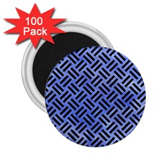 Woven2 Black Marble & Blue Watercolor (r) 2 25  Magnet (100 Pack)  by trendistuff