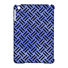 Woven2 Black Marble & Blue Watercolor (r) Apple Ipad Mini Hardshell Case (compatible With Smart Cover) by trendistuff
