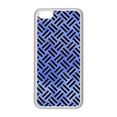 Woven2 Black Marble & Blue Watercolor (r) Apple Iphone 5c Seamless Case (white)