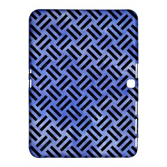 Woven2 Black Marble & Blue Watercolor (r) Samsung Galaxy Tab 4 (10 1 ) Hardshell Case  by trendistuff