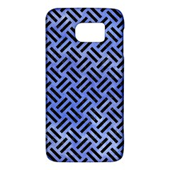 Woven2 Black Marble & Blue Watercolor (r) Samsung Galaxy S6 Hardshell Case  by trendistuff