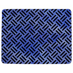 Woven2 Black Marble & Blue Watercolor (r) Jigsaw Puzzle Photo Stand (rectangular) by trendistuff