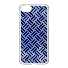Woven2 Black Marble & Blue Watercolor (r) Apple Iphone 7 Seamless Case (white) by trendistuff