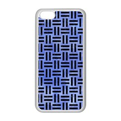 Woven1 Black Marble & Blue Watercolor (r) Apple Iphone 5c Seamless Case (white)