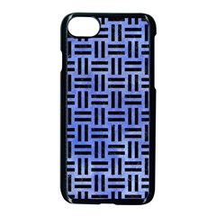 Woven1 Black Marble & Blue Watercolor (r) Apple Iphone 7 Seamless Case (black) by trendistuff