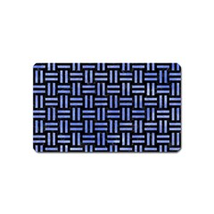 Woven1 Black Marble & Blue Watercolor Magnet (name Card) by trendistuff
