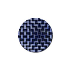 Woven1 Black Marble & Blue Watercolor Golf Ball Marker by trendistuff