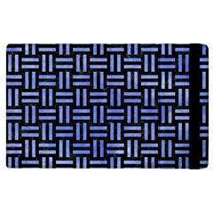 Woven1 Black Marble & Blue Watercolor Apple Ipad 3/4 Flip Case by trendistuff
