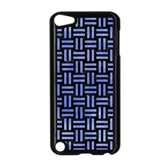 Woven1 Black Marble & Blue Watercolor Apple Ipod Touch 5 Case (black) by trendistuff