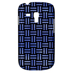 Woven1 Black Marble & Blue Watercolor Samsung Galaxy S3 Mini I8190 Hardshell Case by trendistuff