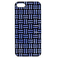 Woven1 Black Marble & Blue Watercolor Apple Iphone 5 Hardshell Case With Stand by trendistuff